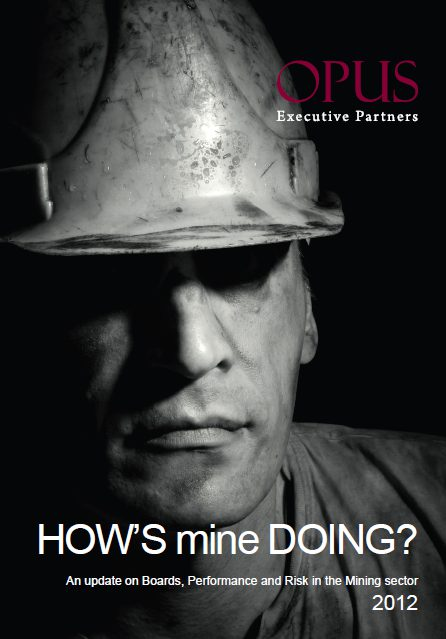 portrait of How's Mine Doing—2012, An update on Boards, Performance and Risk in the Mining sector